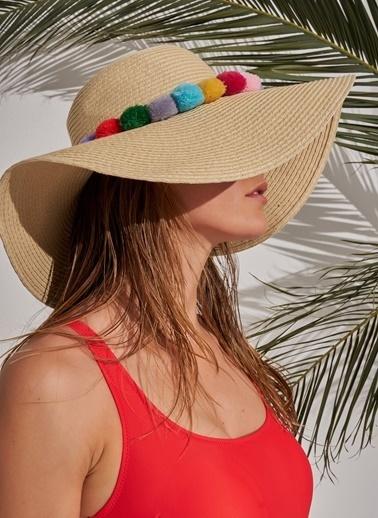 Morhipo Beach Ponpon Detaylı Şapka Bej